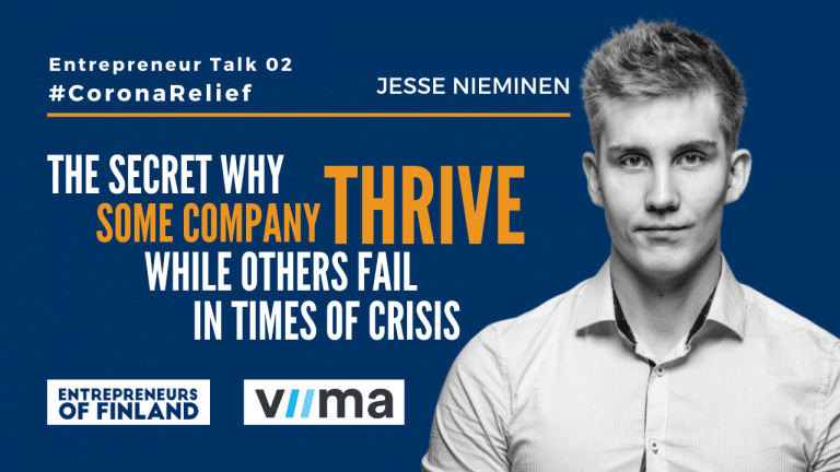 Jesse Nieminen Viima power of innovation in crisis Entrepreneur Talk CoronaRelief