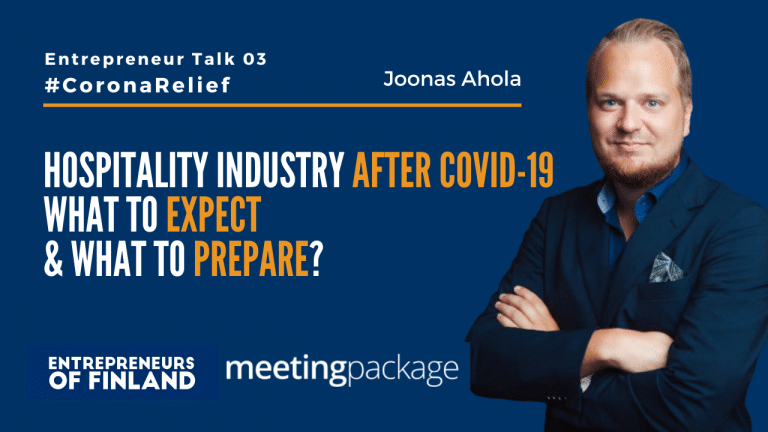Joonas Ahola MeetingPackage Entrepreneur Talk CoronaRelief