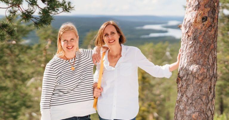 Sirkku Hahn Founder   Nina Stenberg Co Founder in Rovaniemi cropped