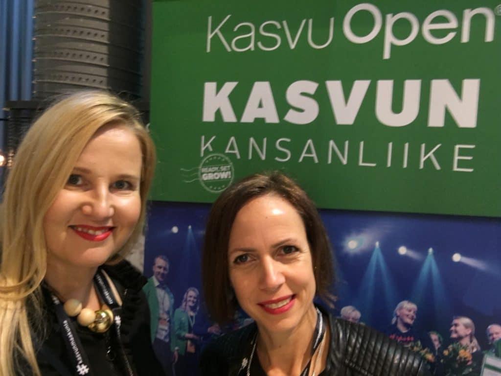 Sirkku and Nina Kasvu Open top10 finaalissa